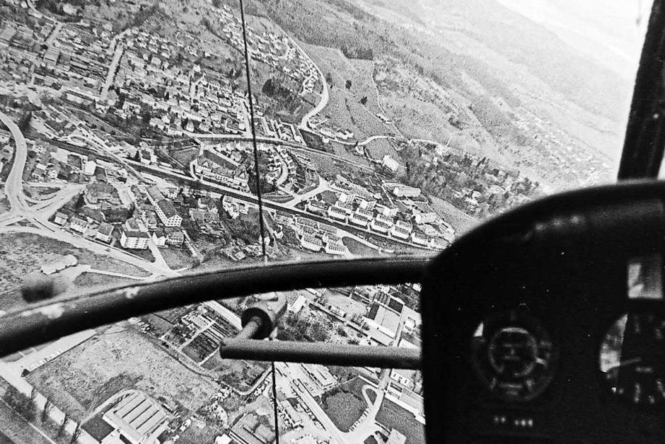 Emmendingen von oben – Das durfte der ehemalige BZ-Reporter Armin E. Möller im Winter 1968 erleben. (Foto: Armin E. Möller)