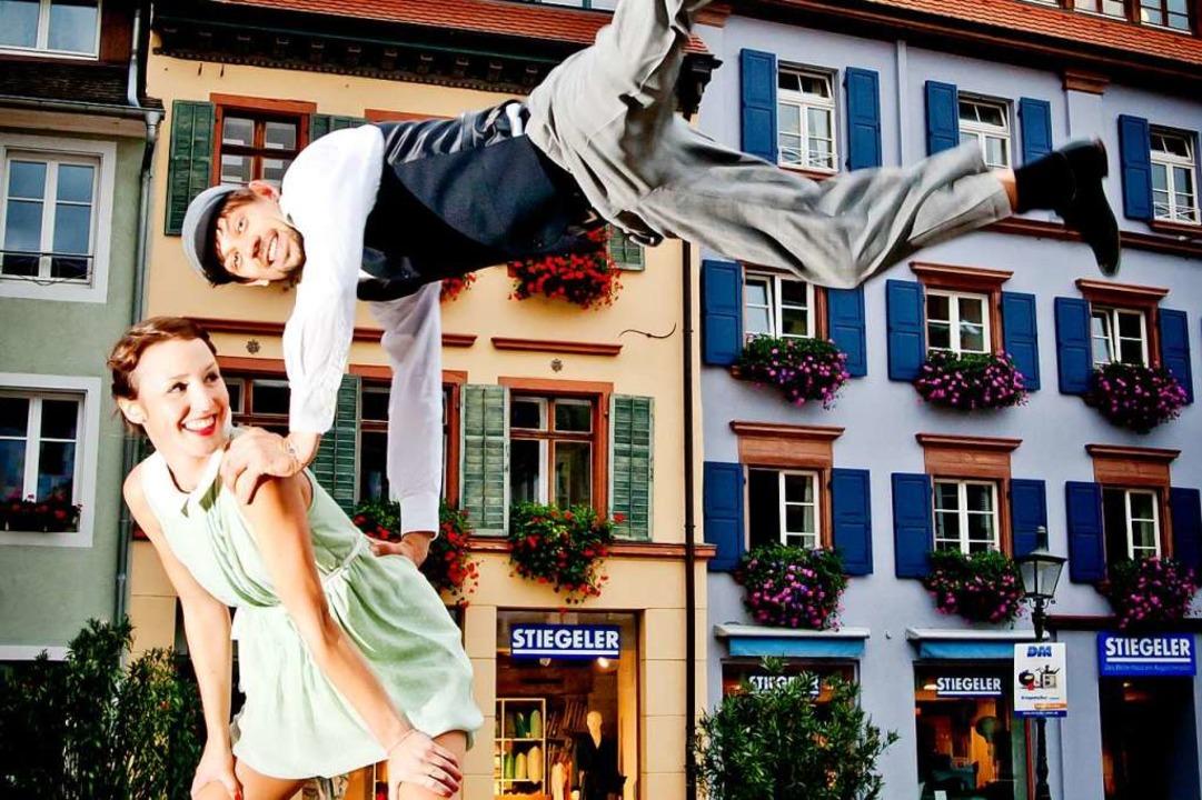 Sabine und Paul, zwei Swing-Tanzlehrer... Big-Band Hymne auf Freiburg bestimmt.    Foto: Martin Schreck