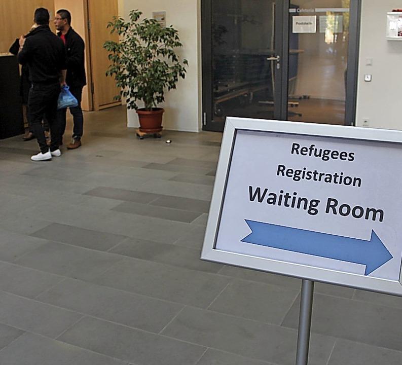 In der ersten Oktoberwoche des Jahres ...hträglich 300 Flüchtlinge registriert.    Foto: Landratsamt