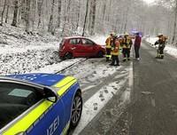 Schneeglätte als Unfallursache