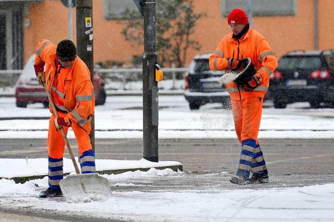 Ein Mitarbeiter der Freiburger ASF wurde beim Winterdienst angegriffen.  | Foto: Ingo Schneider