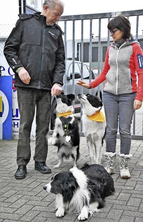 Dietmar Schäfer und Kerstin Moritz wollen  die gelbe Schleife bekannter machen.   | Foto: Steinhart