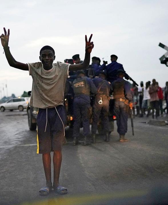 In der Hauptstadt Kinshasa wird der Wahlsieger gefeiert.     Foto: DPA