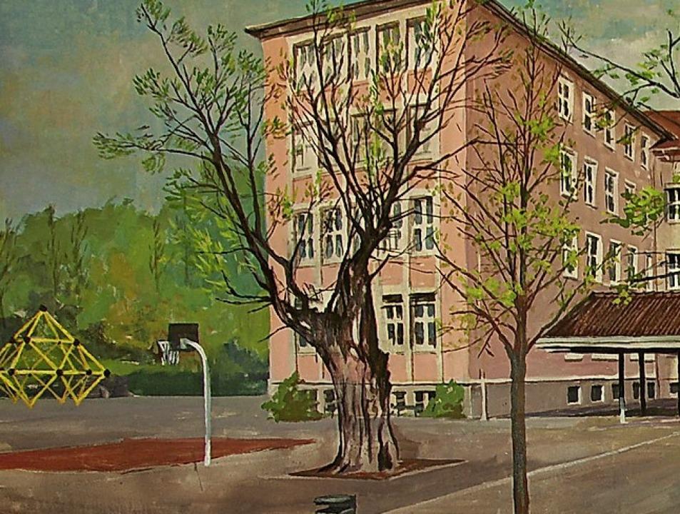 Die Monsch-Robinie gemalt von Dieter Schäfer.  | Foto: Burgmaier