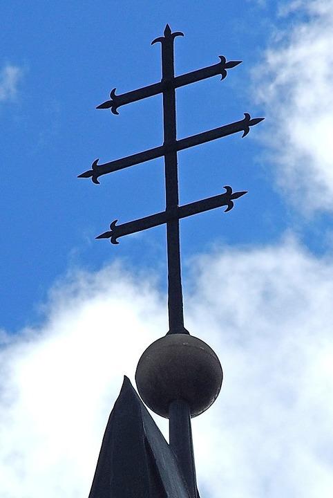 Wo ist dieses Kreuz in der Stadt St. Blasien zu sehen?     Foto: T. Mutter