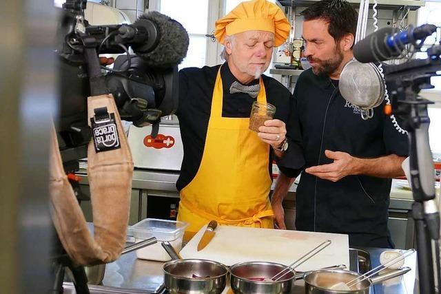 Französisches Fernsehteam dreht beim Sternekoch in Horben