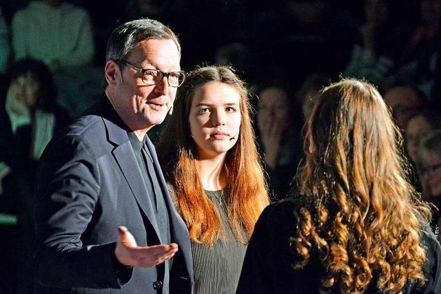 Schauspieler Matthias Brandt beim Nachgefragt-Talk in Freiburg