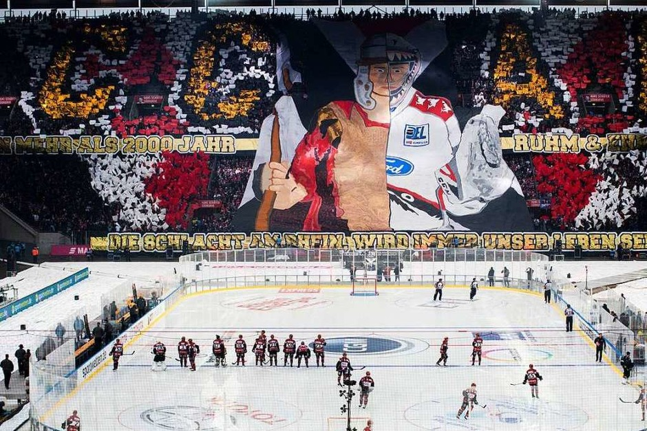 Die Kölner Fans zeigen eine Choreographie. (Foto: dpa)