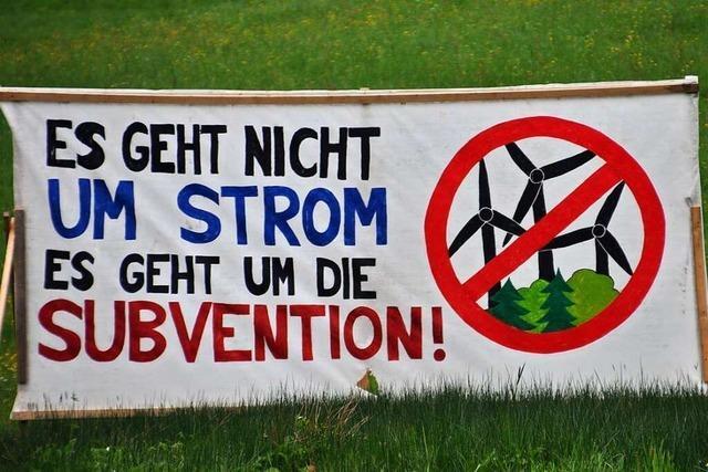 Windkraft-Gegner halten an einem Bürgerbegehren fest