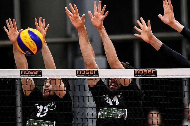 Fotos: Knappe Niederlage zum Rückrundenstart für Volleyballer von 1844 Freiburg