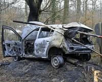 Geklautes Auto in Flammen
