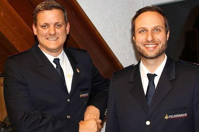 Dominik Zimmermann steht jetzt an der Spitze der Gottenheimer Feuerwehr