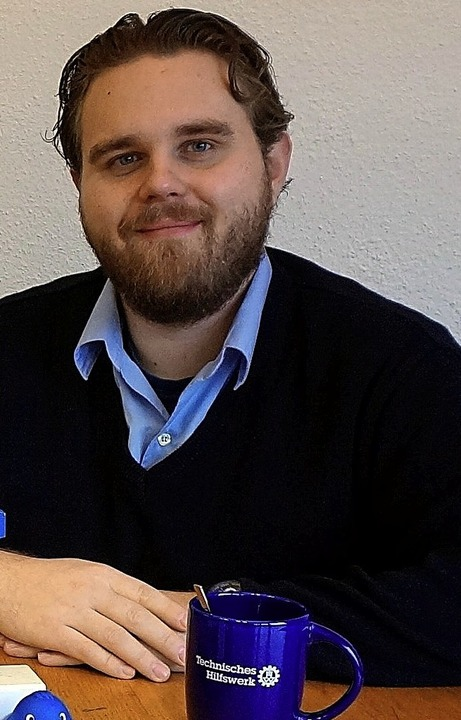 Über die Aufgaben  des THW informierte  Christian Hipp.  | Foto: Freudig