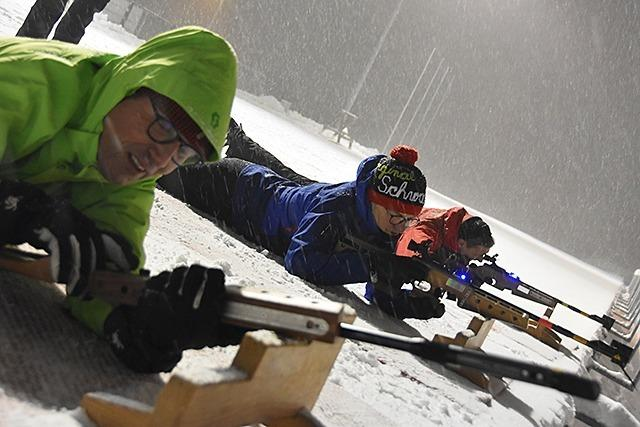 BZ-Leser versuchen sich im Biathlon am Notschrei