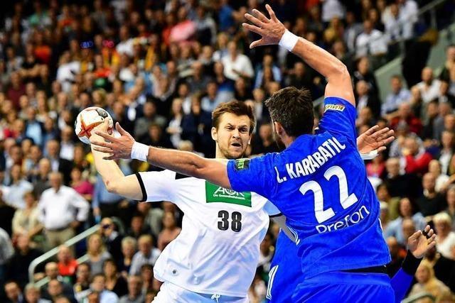 Remis gegen Frankreich: Deutsche Handballer in WM-Hauptrunde