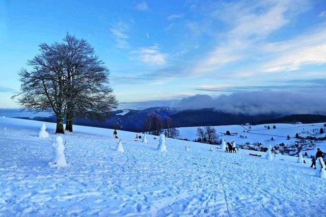 Schneemann-Alarm auf dem Schauinsland