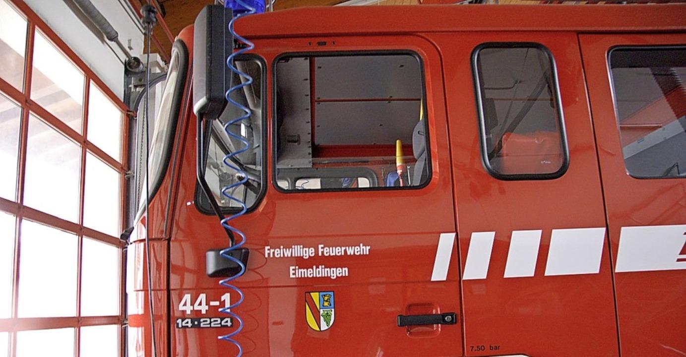 Das alte Löschfahrzeug der Eimeldinger...den, wenn das neue einsatzbereit ist.   | Foto: Langelott