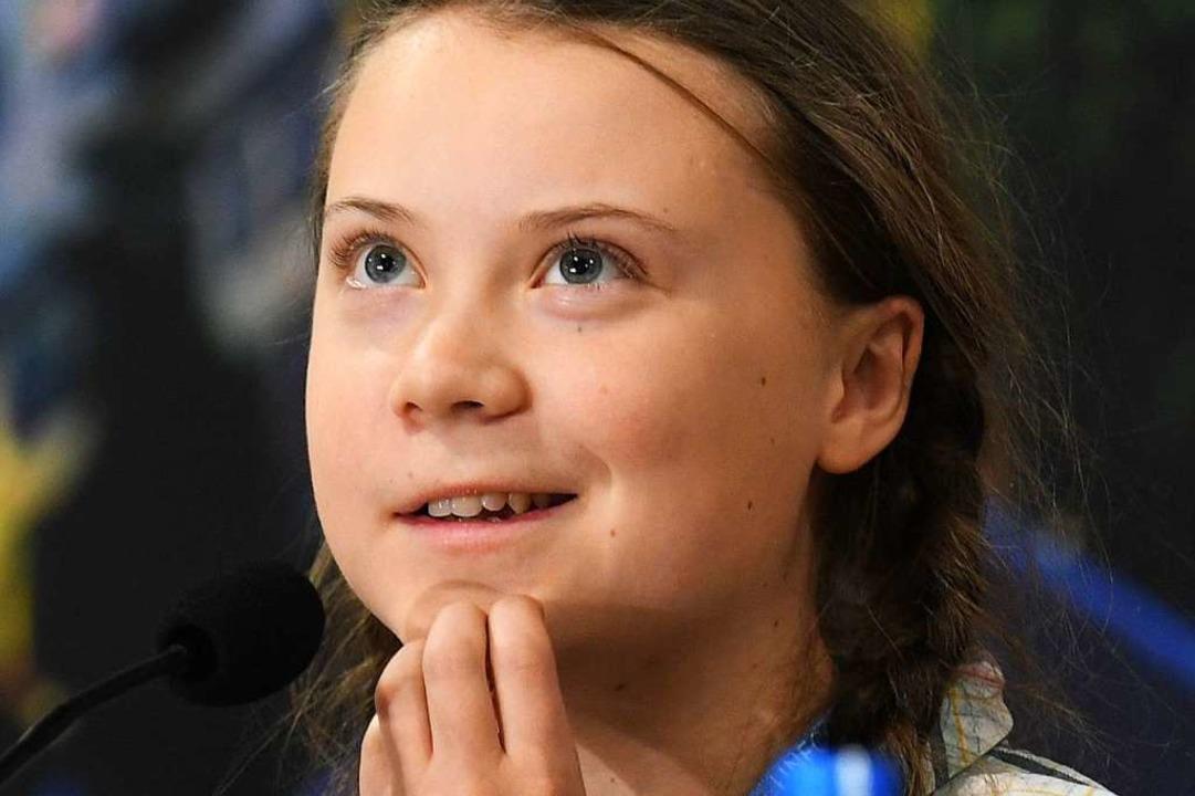 Greta Thunberg beim Kimagipfel in Katowice  | Foto: AFP