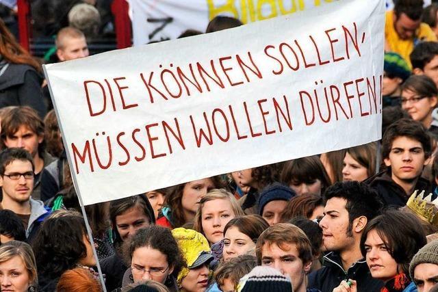 Streikenden Schülern in Freiburg drohen Konsequenzen