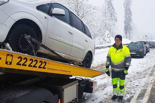 Wie läuft's als Abschleppunternehmer bei Schnee und Eis?