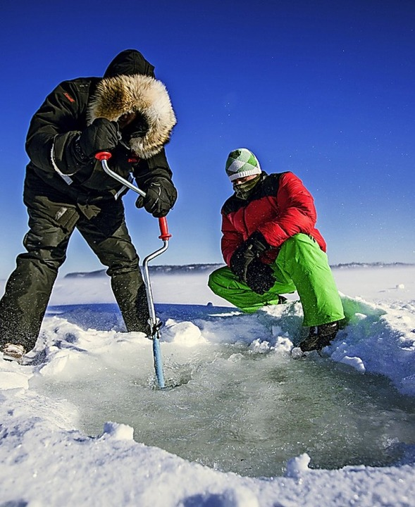 Eisfischer in Ontario, Kanada  | Foto: Stephan Brünjes