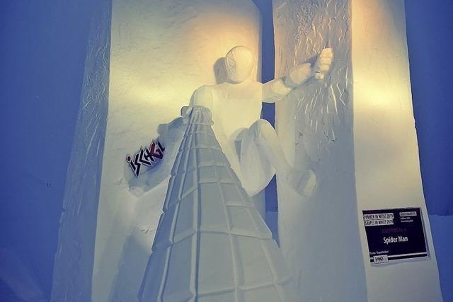 Spiderman im Schnee gesichtet