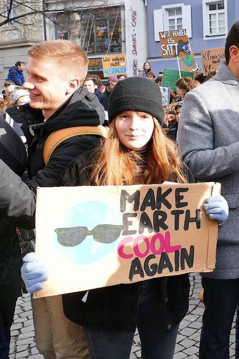 Ein Aktivistin von Fridays for Future  | Foto: Ralf Burgmaier