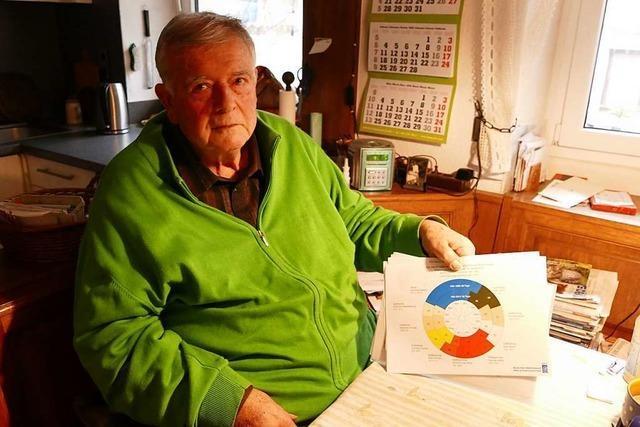 Dietmar Galli beobachtet seit 25 Jahren für den DWD die Pflanzenentwicklung am Kaiserstuhl