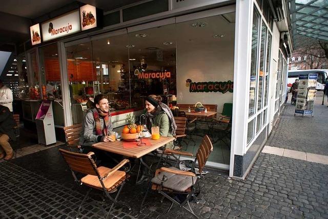 Der Maracuja-Kiosk im Freiburger Karlsbau ist ein Fruchtparadies