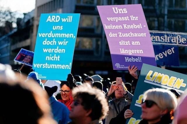 Protestieren für Mutter Beimer