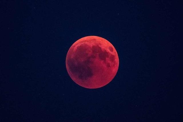 Am Montagmorgen wird der Mond glutrot - und dann erst wieder 2028
