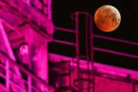 """Totale Mondfinsternis: Der """"Blutmond"""" war vielerorts gut sichtbar"""