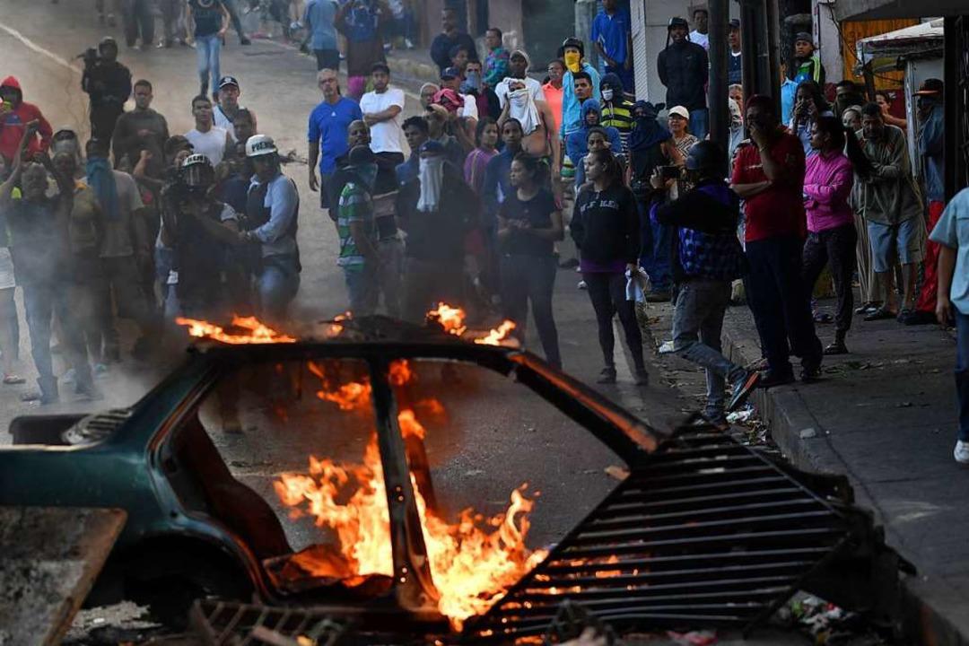 Proteste in Caracas, Venezuela    Foto: AFP