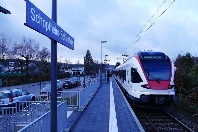 Der Bahnhalt Schlattholz erweist sich nach einem Jahr als guter Zug