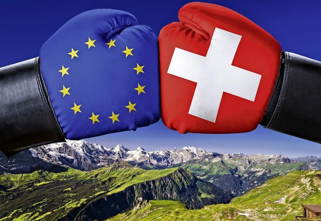Im Clinch liegen Europäische Union und...icht verabschiedeten Rahmenabkommens.   | Foto: AdobeStock/Boris Zerwann