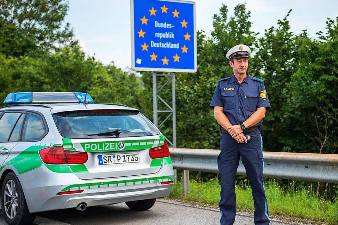 Bayerischer Grenzpolizist     | Foto: dpa