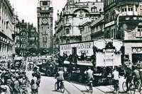 """Der """"Roller"""" kam 1935 als Neuheit im Verkehrswesen nach Freiburg"""
