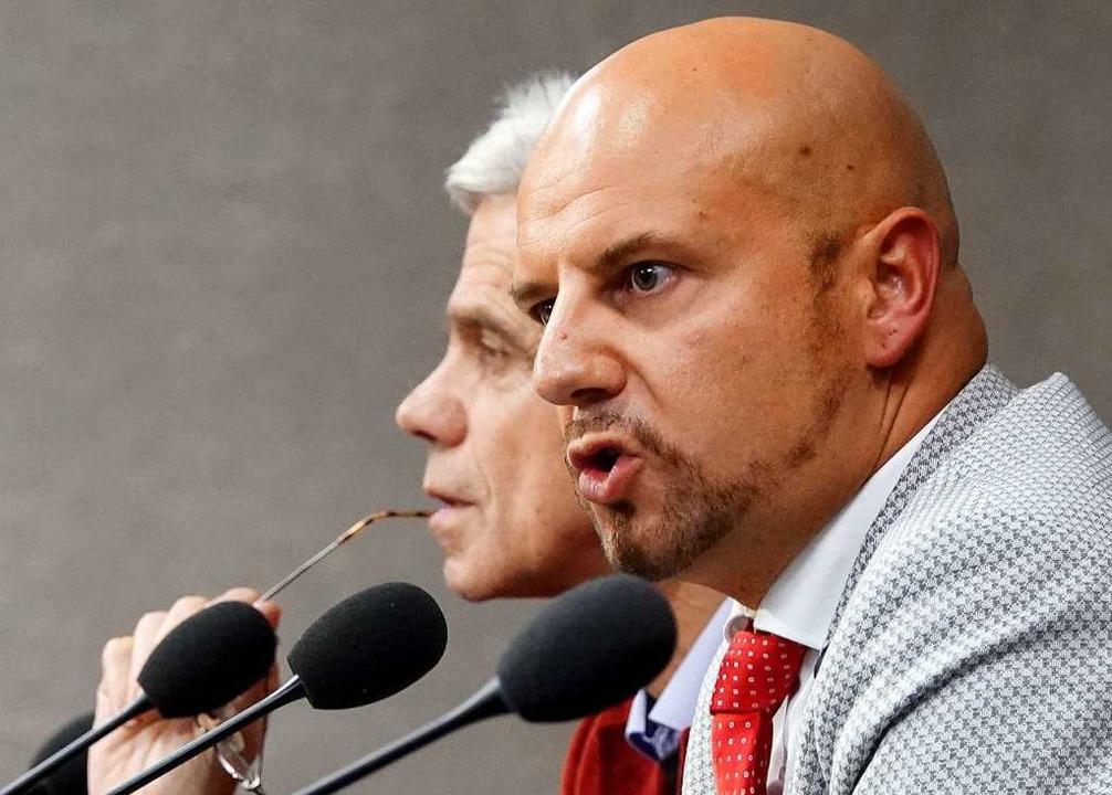 Stefan Räpple und Wolfgang Gedeon    Foto: dpa