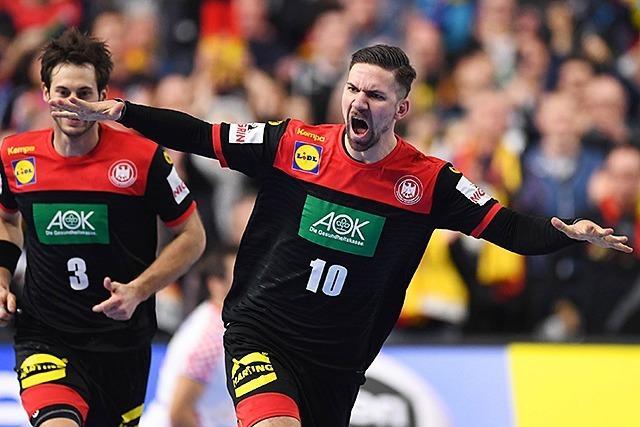 Deutsche Handballer nach Sieg gegen Kroatien im WM-Halbfinale