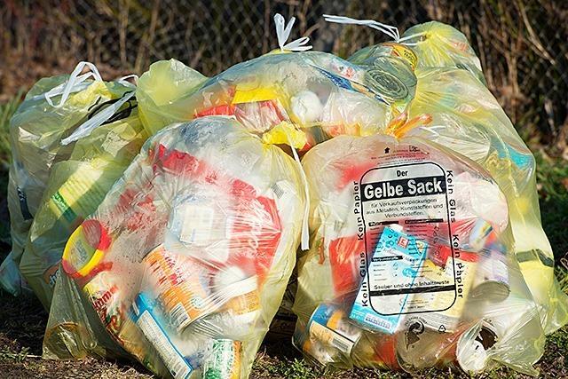 Neues Verpackungsgesetz - Gelbe Säcke oder Tonnen in Lörrach?