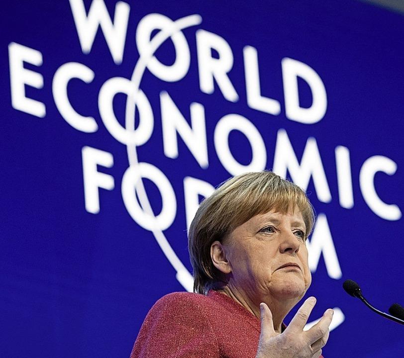 Angela Merkel in Davos     Foto: DPA