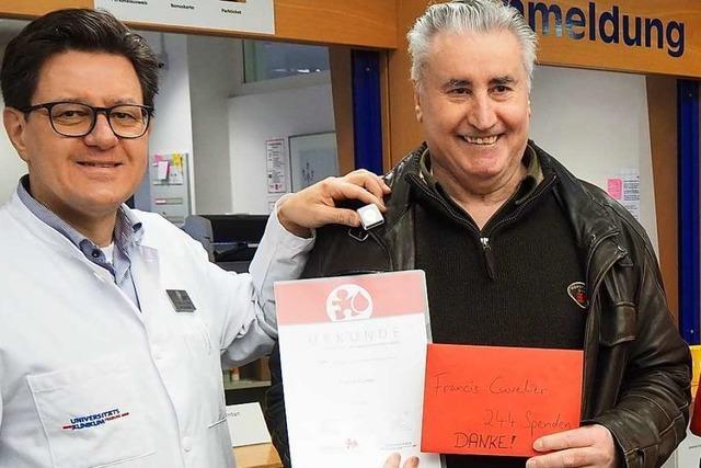 72-jähriger Blutspender aus Reute hat rund 700 Menschen gerettet