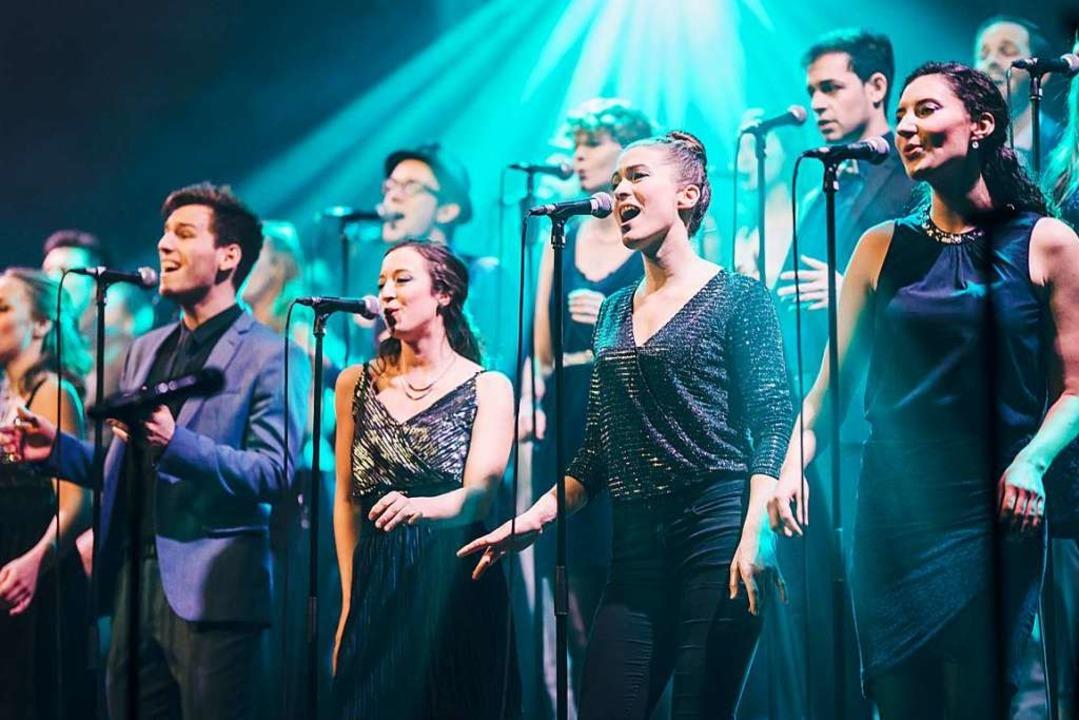 Showtime im E-Werk: Twäng  beim Auftritt am vergangenen Samstag.  | Foto: Fabio Smitka