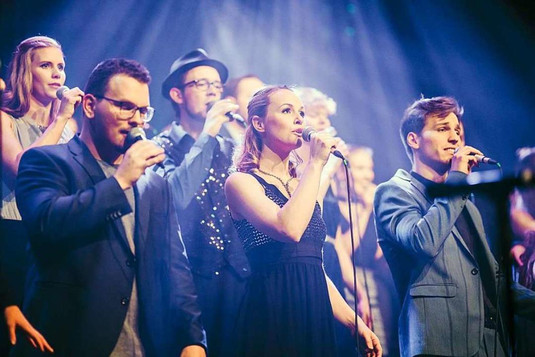 Showtime im E-Werk: Twäng! beim Auftritt am vergangenen Samstag.  | Foto: Fabio Smitka