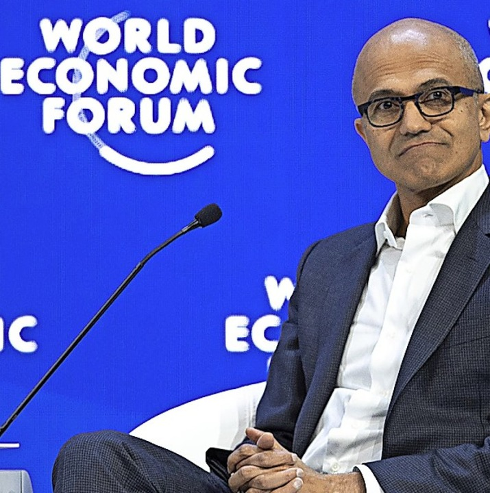 Ein Davos-Mann: Microsoft-Boss Satya Nadella   | Foto: DPA