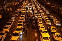 Spanische Taxifahrer protestieren gegen Uber