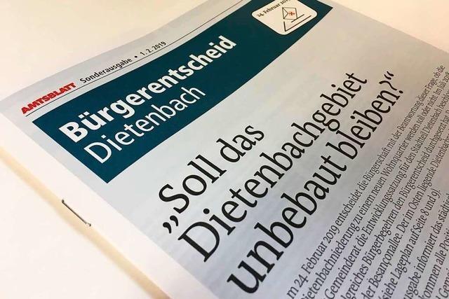 Sonderausgabe des Amtsblatts informiert über Bürgerentscheid zu Dietenbach