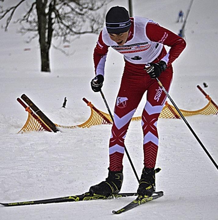 Matteo Lewe (Kirchzarten) wurde  Neunt...fünf, im Einzelrennen war er Sechster.