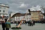 Fotos: Der Narrenbaum auf dem Lörracher Alten Marktplatz ist aufgestellt