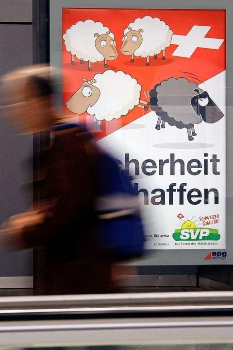 In der Schweiz ging es bereits um die ...sung straffällig gewordener Ausländer.  | Foto: AFP
